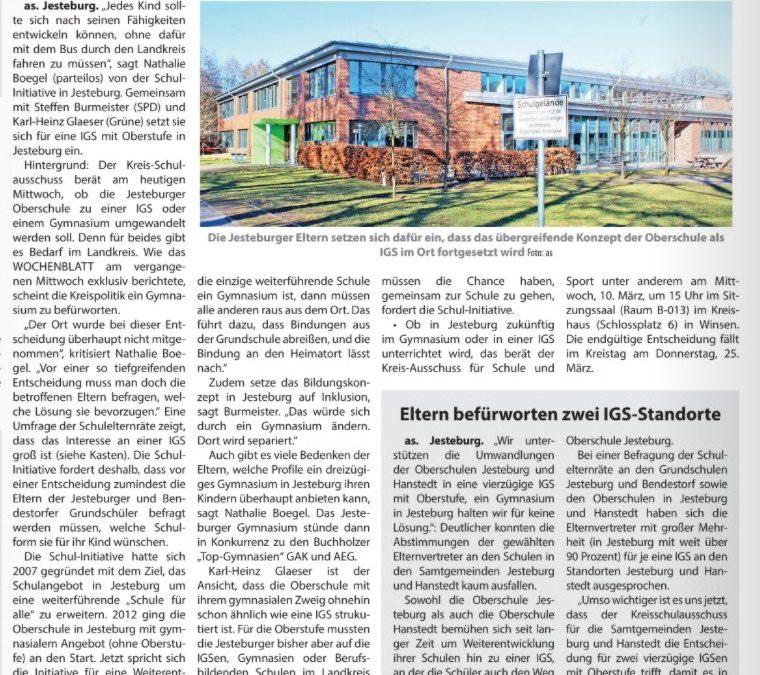 Presse: Eine Schule für alle Kinder