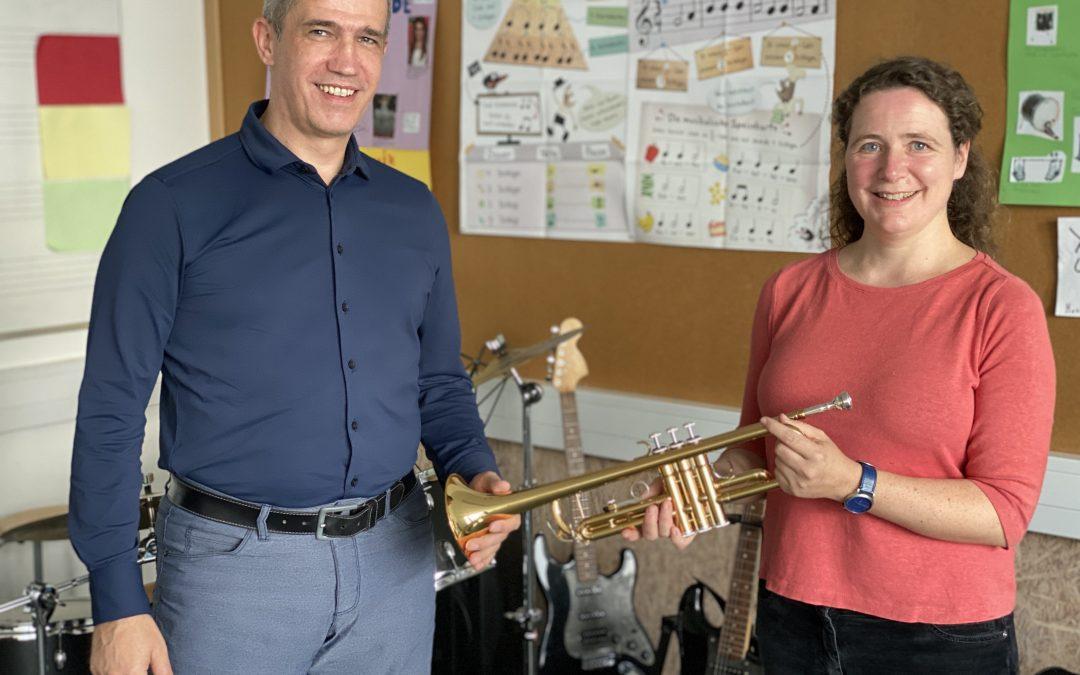Instrumentenspende des Schulvereins